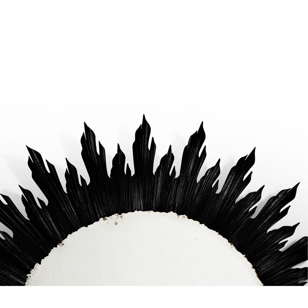 Large Black Sunburst Mirror | Jonathan Charles