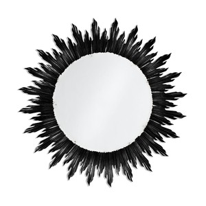 Large Black Sunburst Mirror | Jonathan Charles