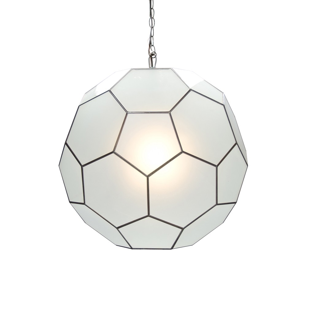 Large Frosted Glass Knox Pendant   Worlds Away