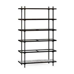 Patinated Bronze Finish Six Tier Etagere