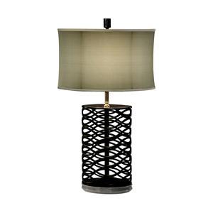 Bronze Interlaced Iron Table Lamp | Jonathan Charles
