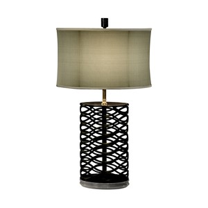 Bronze Interlaced Iron Table Lamp | Jonathan Charles