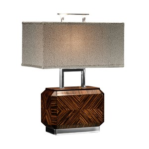 Tea Caddy Faux Macassar Table Lamp | Jonathan Charles