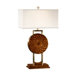 Feather Inlay Table Lamp | Jonathan Charles