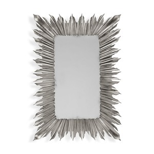 Silvered Rectangular Sunburst Mirror | Jonathan Charles