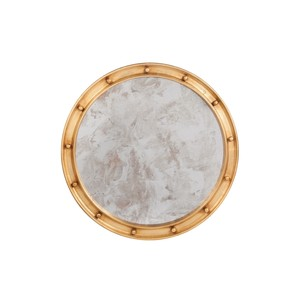 "Round Gold Leaf Mirror 28"" Diameter Federal Style"