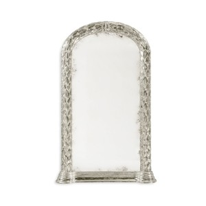 Carved & Silver Gilded Hanging Wall Mirror | Jonathan Charles