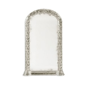 Carved And Silver Gilded Hanging Wall Mirror | Jonathan Charles