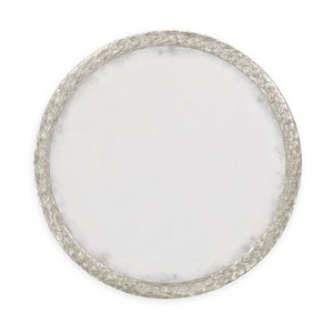"Silver Leaf 48"" Round Wall Mirror 