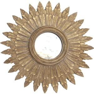 """24\"""" Diameter Gold Leafed Mirror"""