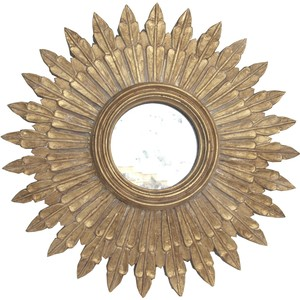 "24"" Diameter Gold Leafed Mirror"