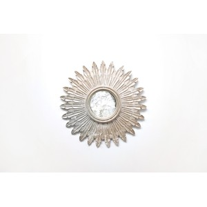 "24"" Diameter Silver Leaf Starburst Mirror 