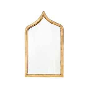 Morrocan Style Gold Leafed Iron Mirror | Worlds Away