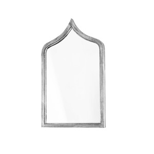 Morrocan Style Silver Leafed Iron Mirror | Worlds Away