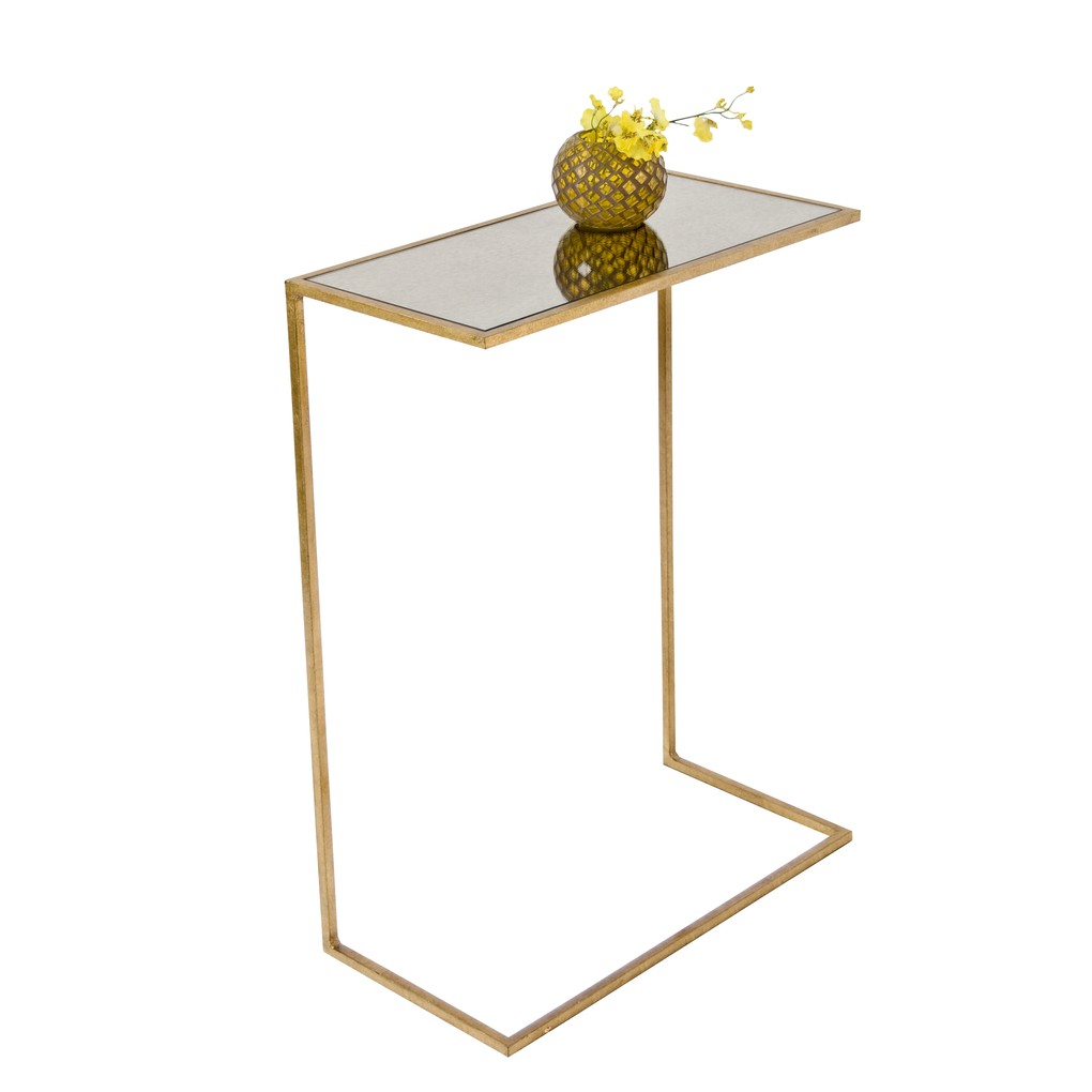 Gold Leaf Cigar Table | Worlds Away