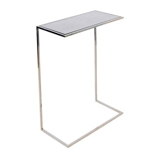 Large Nickel Plated Cigar Table | Worlds Away