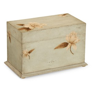 Painted Floral Rectangular Box