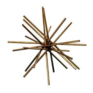 "12"" Iron Asterick in Gold Leaf 