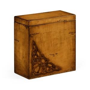Raised Celtic Veneer Tall Box | Jonathan Charles