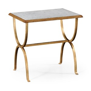 Gilded Iron Rectangular Side Table | Jonathan Charles