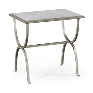 Silver Iron Rectangular Side Table