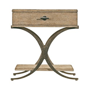 Windward End Table in Weathered Pier