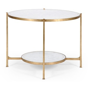Transitional Gilded Centre Table   Jonathan Charles