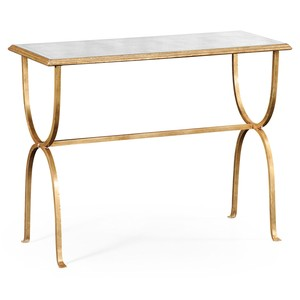 Gilded Iron Horseshoe Console Table | Jonathan Charles