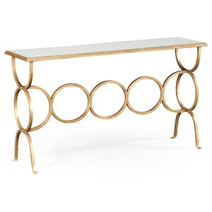 Gilded Iron Circles Console Table | Jonathan Charles