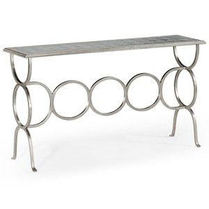 Silver Iron Circles Console Table | Jonathan Charles