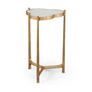 Gilded Iron Trefoil Lamp Table | Jonathan Charles