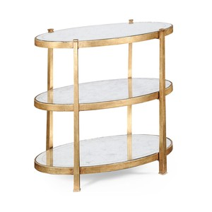 Gilded Iron 3 Tier End Table | Jonathan Charles
