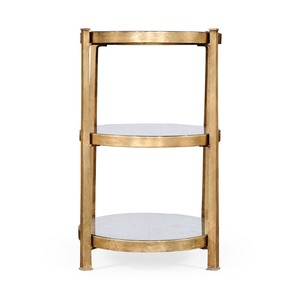 Gilded Iron Three-Tier End Table | Jonathan Charles
