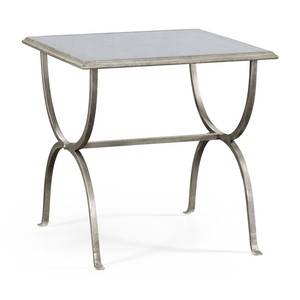 Silver Iron Square Side Table
