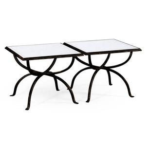Bronze Iron Tables, Set/2 | Jonathan Charles