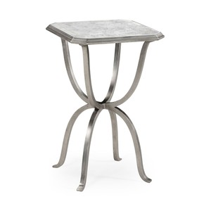 Silver Iron Octagonal Side Table