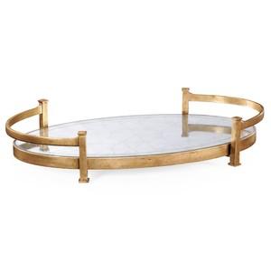 Gilded Iron Oval Tray | Jonathan Charles
