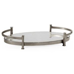 Silver Iron Oval Tray | Jonathan Charles