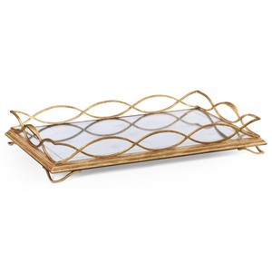 Gilded Iron Rectangular Tray | Jonathan Charles