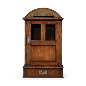 Dark Oak Letter Box With Lock   Jonathan Charles