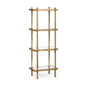 Gilded Iron Narrow Four-Tier Etagere | Jonathan Charles