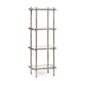 Silver Iron Narrow Four-Tier Etagere | Jonathan Charles