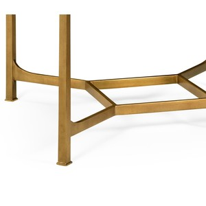 Patinated Gilded Finish Square Side Table   Jonathan Charles