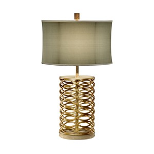 Gilded Interlaced Iron Table Lamp | Jonathan Charles