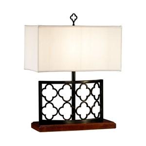 Bronzed Gothic Trellis Table Lamp | Jonathan Charles