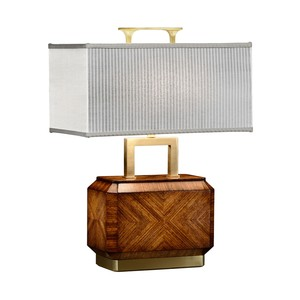 Tea Caddy Zebrano Veneer Table Lamp | Jonathan Charles