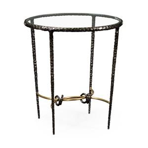 Hammered Iron Circular Side Table | Jonathan Charles