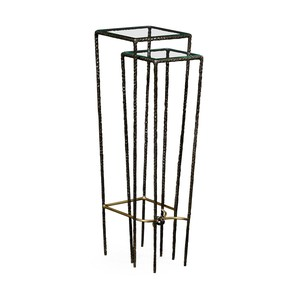 Hammered Nesting Pedestal Tables | Jonathan Charles