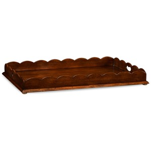 Walnut Tray w/ Scalloped Edge