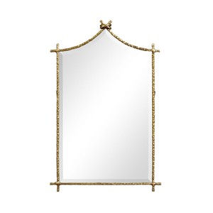 Brass Hammered Wall Mirror
